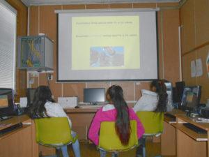 sledování prezentace