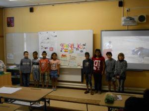vystoupení před žáky školy