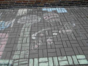 kresba na chodníku